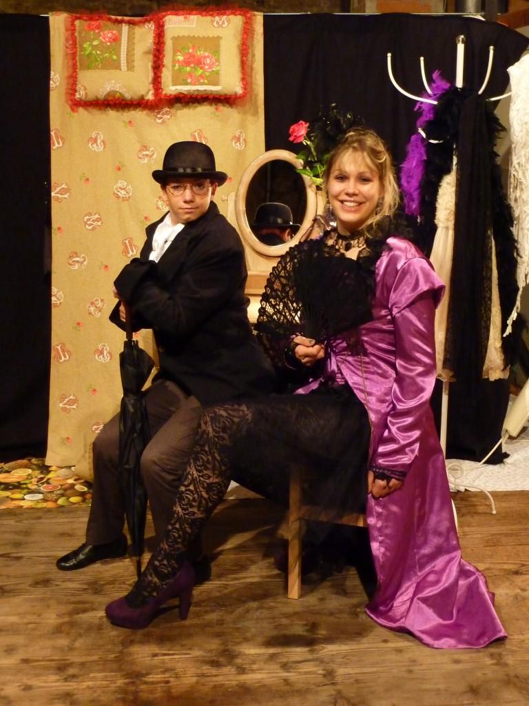 La Caro et son client, Auguste Comte